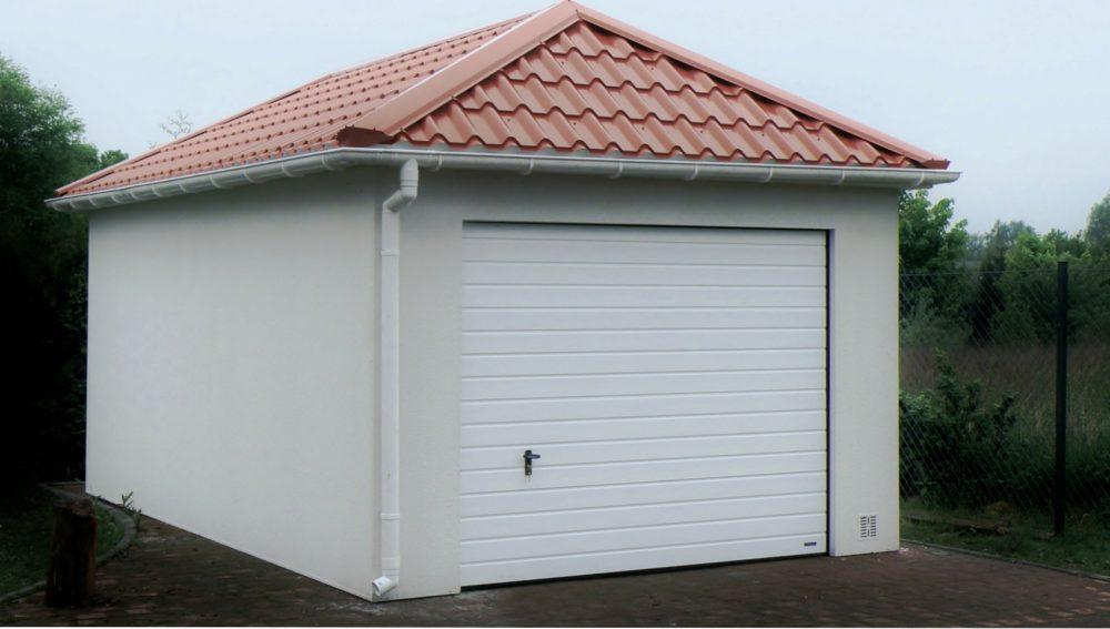 49. Na zdjęciu garaż Quatro-Classic - 1 samochód, razem szer.4,0m x dł.6,0m może być wykonany w innych wymiarach.